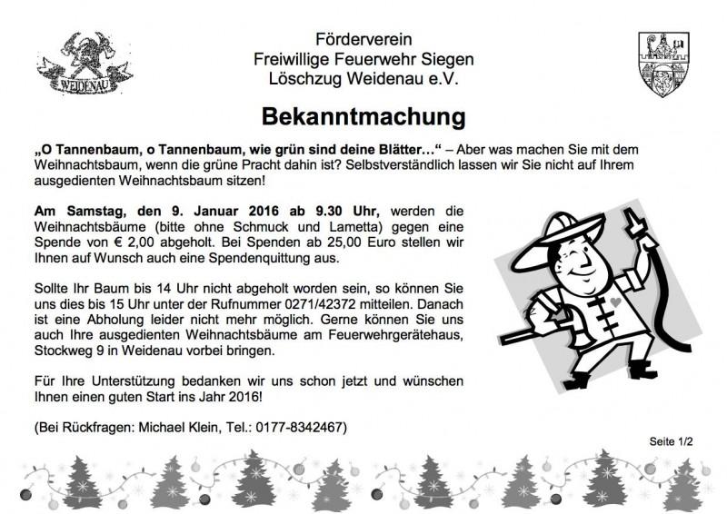Weihnachtsbaumaktion 2016 Seite 1